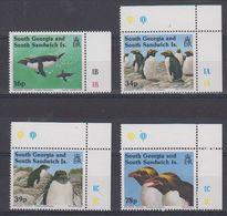 South Georgia 1993 Macaroni Penguins 4v (+margin) ** Mnh (42199) - Zuid-Georgia