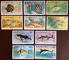 St Vincent 1977 Fish Whales Marine Life Imprint Date MNH - Pesci