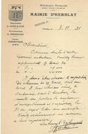 MAIRIE-HERBLAY-BLASON-SEINE ET OISE-ARRONDISSEMENT DE VERSAILLES-CANTON D'ARGENTEUIL-DEVIS- - France
