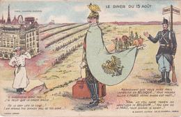 CPA Humoristique Belgique/France - Le Dîner Du 15 Août - Humoristiques
