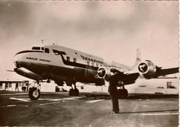 Cpsm Avion/Airplane  DOUGLAS DC6 De La S.A.S  (aéroport Du Bourget) Peu Courante , Dos Vierge - 1946-....: Moderne