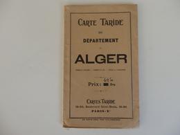 Carte Taride Du Département D'Alger échelle 1.9000.000 E. - Cartes Géographiques