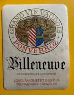 10140 - Villeneuve Ponverroz Louis Amiguet Suisse - Etiquettes