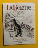 10145 - Villette La Belette Paul Coderey Suisse - Etiquettes