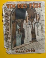 10150- Villette Vin Des Fées  Vincent Desfayes Suisse Ancienne étiquette Endommagée - Etiquettes