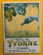 10153- Yvorne 1er Choix H.Badoux Suisse Illustration Frédéric Rouge - Etiquettes