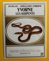 10154 - Yvorne Les Serpents Suisse - Etiquettes