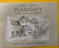 10157 - Yvorne Pinot Noir Plannavy Philippe Gex Suisse - Etiquettes