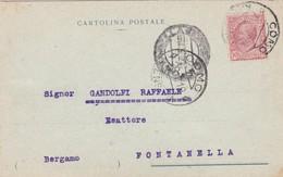 CARTOLINA POSTALE - COMO - TIPOGRAFIA E LIBRERIA EDITRICE OSTINELLI, DI CESRE NANI - VIAGGIATA PER FONTANELLA (BERGAMO) - 1900-44 Vittorio Emanuele III