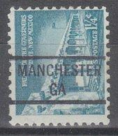 USA Precancel Vorausentwertung Preo, Locals Georgia, Manchester 841 - Vereinigte Staaten