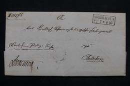 ALLEMAGNE - Lettre Pour Ebeteben , Voir Cachet Postal Nordhausen - L 25218 - Germany