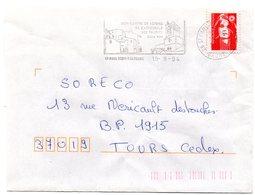 DROME - Dépt N° 26 = St PAUL TROIS CHATEAUX 1994 = Flamme Type II = SECAP Illustrée  'cathédrale + VIN' - Postmark Collection (Covers)