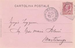 CARTOLINA POSTALE - CALCIO (BERGAMO) - GIUSEPPE MELOCCHI - INGEGNERE - VIAGGIATA PER MARTINENGO (BERGAMO) - 1900-44 Vittorio Emanuele III