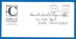 Mairie - 31270  CUGNAUX (15) 22 10 1998 - Marcofilie (Brieven)