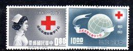 XP4355 - TAIWAN FORMOSA1963 , Yvert Serie 444/445 ***  MNH  Croce Rossa - 1945-... République De Chine