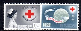 XP4355 - TAIWAN FORMOSA1963 , Yvert Serie 444/445 ***  MNH  Croce Rossa - 1945-... Repubblica Di Cina