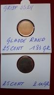 2 Blanco Plaatjes 25 Cent CuNi - 1951-1993: Baudouin I