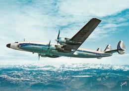 Super Starliner D Air France Survolant Les Alpes - 1946-....: Ere Moderne