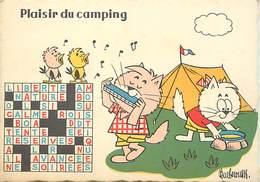 Gd Format:environ15cms X10cms -ref Y519-illustrateurs -illustrateur Barberousse -mots Croisés -camping -harmonica - - Barberousse