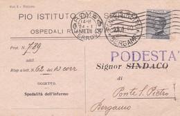 CARTOLINA POSTALE - ROMA - PIO ISTITUTO DI S. SPIRITO, OSPEDALE RIUNITI DI ROMA  -VIAGGIATA PER PONTE S. PIETRO(BERGAMO) - 1900-44 Vittorio Emanuele III