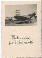 AVIATION AVION SPITFIRE PHOTO MEILLEURS VOEUX - 1939-1945: 2ème Guerre