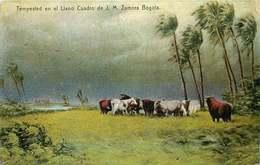 COLOMBIE  Tempested En El Llano Cuadro De J.M Zamora - Colombie