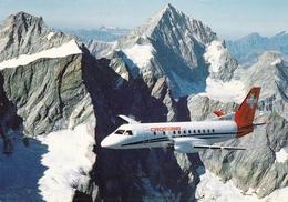 SAAB Cityliner Crossair's Over The Dents Du Midi - 1946-....: Ere Moderne