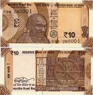 INDIA       10 Rupees       P-New       2017       UNC  [ Sign. Patel - No Letter ] - India