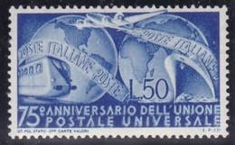 Repubblica Italiana, 1949  - 50 Lire UPU - Nr.599  MNH** - 6. 1946-.. Repubblica
