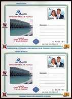 Girostamps54.- ENTERO POSTAL DE IDA Y VUELTA DE LA BODA REAL DE ESPAÑA 2004 EN VALENCIA - Enteros Postales