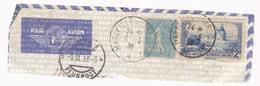 FRANCE 1938, POSTE AERIENNE, PAR AVION,WITH ROUND  CANCELLATION MARSEILLE GARE AVION, STAMP MILL... - Poste Aérienne