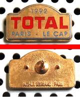Arthus Bertrand : Automobile Rallye PARIS-LE CAP 1992 Sponsor TOTAL émaillé - Rallye