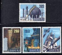 XP4362 - TAIWAN FORMOSA 1961 , Serie Yvert N. 384/387  ***  MNH - 1945-... République De Chine