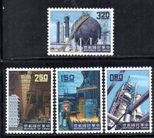 XP4362 - TAIWAN FORMOSA 1961 , Serie Yvert N. 384/387  ***  MNH - 1945-... Repubblica Di Cina