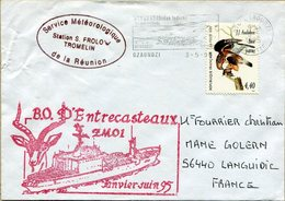 Service Météorologique De La Réunion Station S. Frolow Tromelin  1995 - Postmark Collection (Covers)
