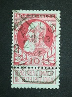 COB N ° 74 Oblitération Télégraphe Aalst Alost 1911 - 1905 Grosse Barbe