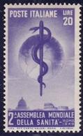 Repubblica Italiana, 1949 - 20 Lire Sanità - Nr.607 MNH** - 6. 1946-.. Repubblica