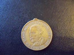Ancien Jeton Cuivre Ou Bronze Président De La République CARNOT Souvenir De Son Passage A Nice Avril 1890. - Francia