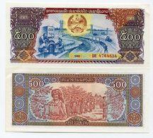 Lao Laos 500 Kip ND 1988 P 31 XF Money Banknote - Laos
