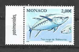 Monaco 2019 -  Yv N° 3182 ** - Thon Rouge De Méditerranée - Monaco