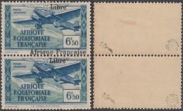 AEF - 1940 PA 18avec Charnière En Pair Surchargé à Cheval - Signé Brun Et Roumet (7G29710) DC2423 - A.E.F. (1936-1958)