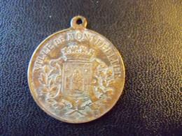 Ancien Jeton  Bronze Ville De MONTPELLIER 1890 Centenaire De L'université. - Toeristische