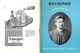 PROGRAMME-THEATRE-MATHURINS--PARIS-ANTON PAVLOVIUTC TCHEKHOV-SACHA PITOEFF-TROIS SOEURS-PUBLICITE-PUB- - Programmes
