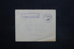ALLEMAGNE - Enveloppe En Feldpost En 1917 , Voir Cachet Militaire- L 25237 - Germany