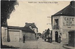 D10 - PLACY - RUE DES MAZEUX ET RUE DE L'EGLISE - Café Au Bon Coin-Charrette-Vélo Et Plusieurs Personnes - France