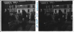 Plaque De Verre Stéréoscopique Positive - Sarcelles - Cérémonie Officielle En Ville - Glass Slides
