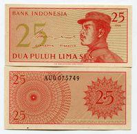 Indonesia 1964 UNC/XF Banknote 25 SEN Paper Money - Indonésie