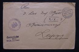 ALLEMAGNE - Enveloppe En Feldpost Pour Leipzig En 1916 , Voir Cachet Militaire- L 25240 - Briefe U. Dokumente