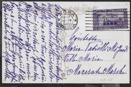 STORIA POSTALE REGNO - MONTECASSINO CENT 40 ISOLATO SU CARTOLINA DA ROMA/FERROVIA 16.04.1927 - 1900-44 Vittorio Emanuele III
