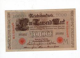 Allemagne - 1000 Mark - 21.04.1910 - M - [ 2] 1871-1918 : German Empire
